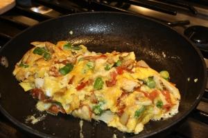 Soczysty wielowarzywny omlet drwala ;)