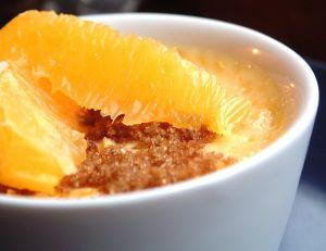 Zimowa kawa z pomarańczą
